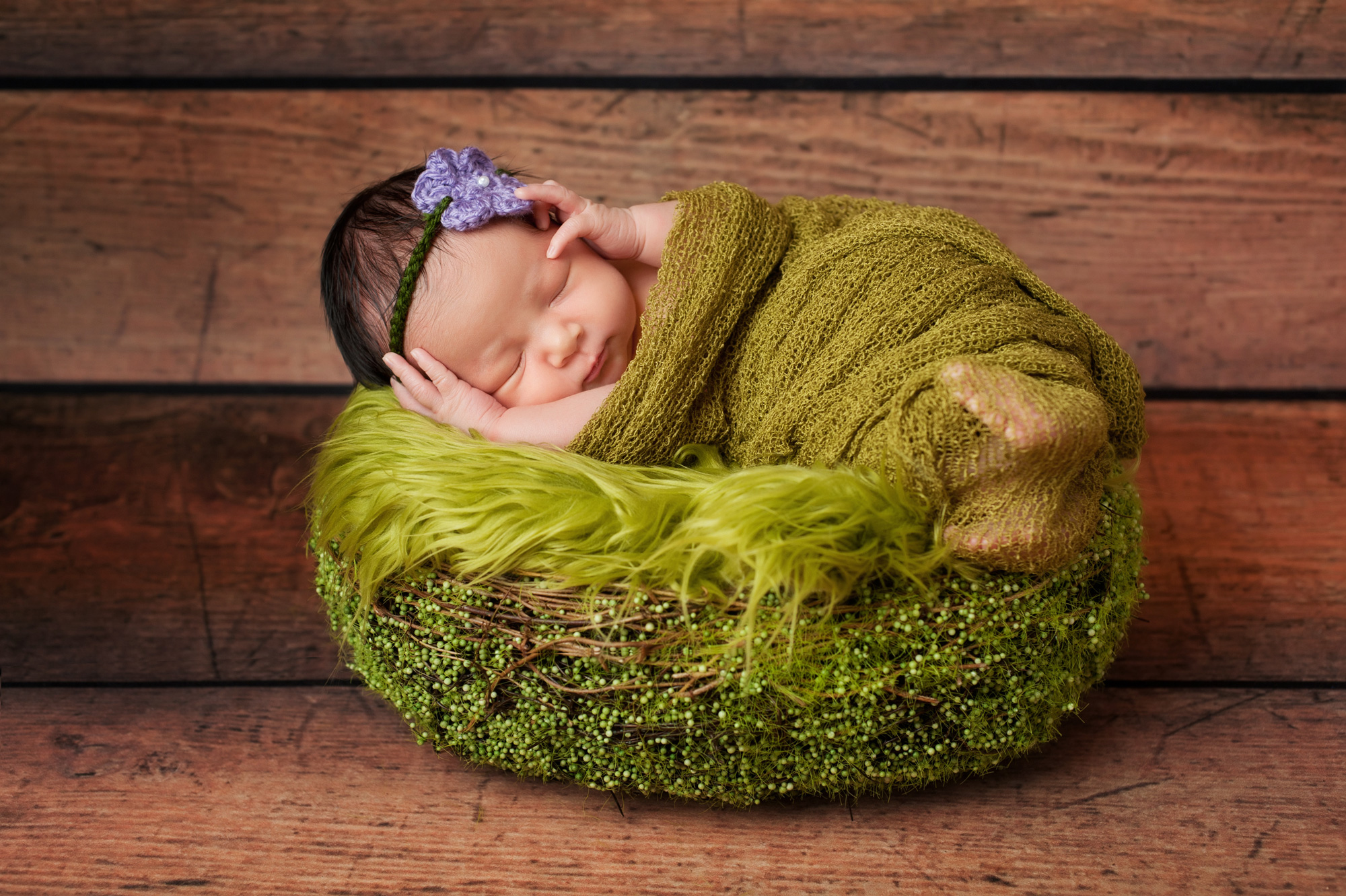 Baby Portrait Photography - Baby in a Basket