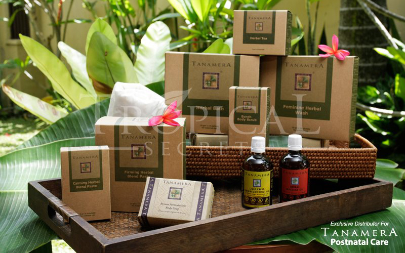 Post-Natal Massage-Tropical Herbs & Oils,Dubai ✿Cucciku✿ Tanamera Complete Postnatal Care Set