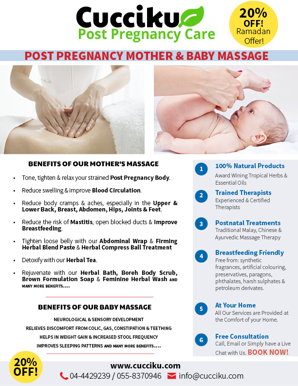 Postnatal Mother & New Born Massage in Dubai Sharjah & Ajman